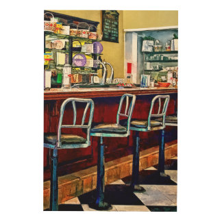 Candy Store With Soda Fountain Wood Wall Art