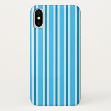 Candy Stripe (blue) iPhone XS Case