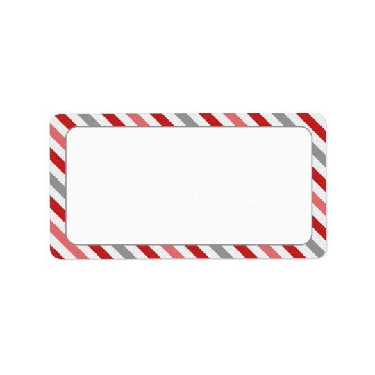 candy stripe border label