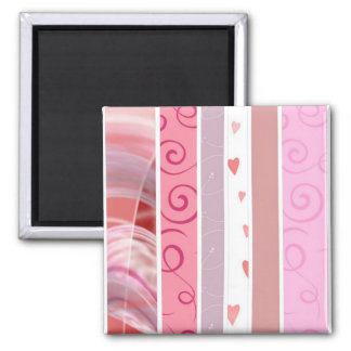 Candy Stripe 2 Inch Square Magnet