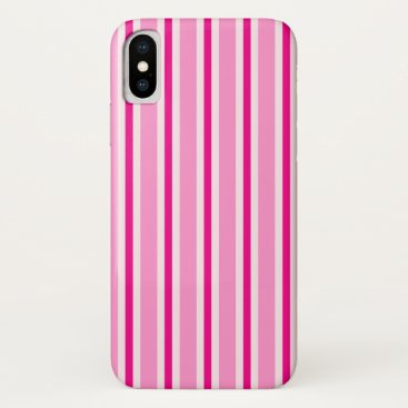 Candy Stripe (pink) iPhone XS Case