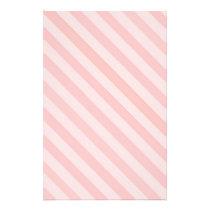 Candy Stripe Pink on Pink Stationary Stationery