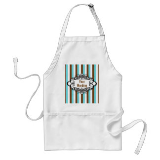 Candy stripe vintage monogram adult apron