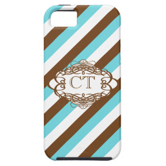 Candy stripe vintage monogram iPhone SE/5/5s case