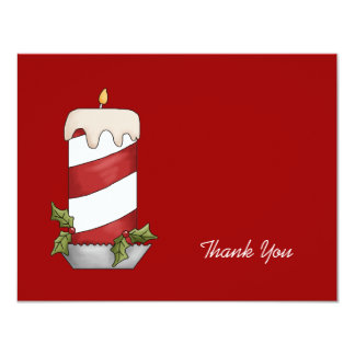 Candy Striped Candle Thank You Card