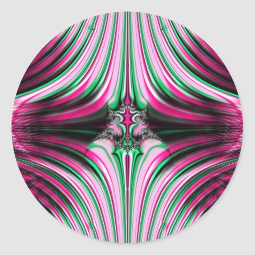 Candy Striped Fractal Sticker