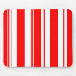 Candy striped mousepad shown in cardinal red