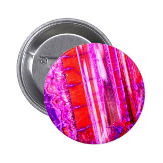 Candy Striped Red & Purple Quartz Pinback Button