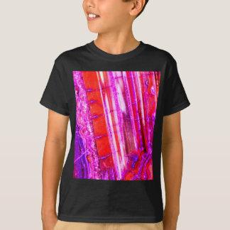Candy Striped Red & Purple Quartz T-Shirt