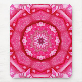 Candy Striped  Rose Mouse Pad