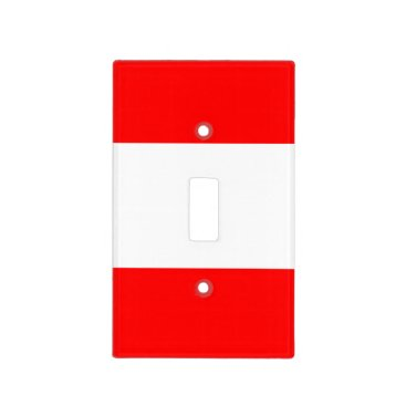 Candy striper collection shown in Cardiinal Red Light Switch Cover