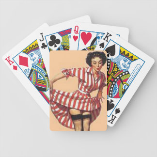 Candy Striper Pin Up Bicycle Playing Cards