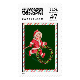 CANDY STRIPES AND CHILD by SHARON SHARPE Postage