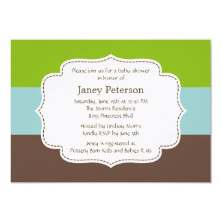 Candy Stripes Baby Shower Invitation