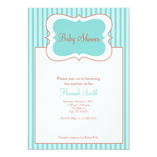 Candy Stripes - Baby Shower TR Card