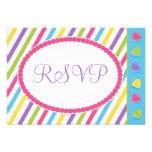 Candy Stripes Bat Mitzvah RSVP Invites