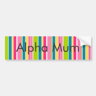 Candy Stripes Bumper Sticker