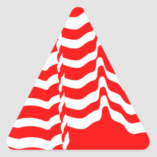 Candy stripes canadian triangle sticker