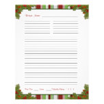 """Candy Stripes Christmas Recipe Binder Inserts 8.5"""" X 11"""" Flyer"""