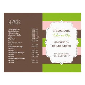 "Candy Stripes Folded Brochure 8.5"" X 11"" Flyer"