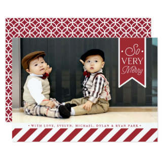 Candy Stripes | Holiday Photo Card