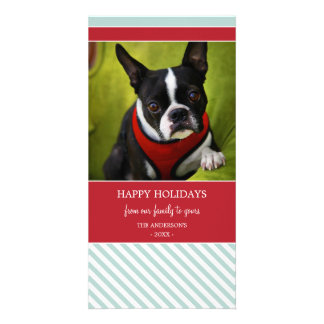 CANDY STRIPES   HOLIDAY PHOTO CARD