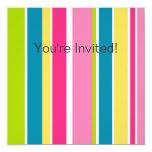 Candy Stripes Invitation 13 Cm X 13 Cm Square Invitation Card