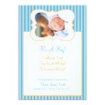 Candy Stripes -It's A Boy! PhotoAnnouncement BO Personalized Invites