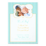 Candy Stripes -It's A Boy! PhotoAnnouncement TO Custom Invitations