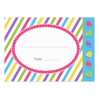 Candy Stripes Large Business Card