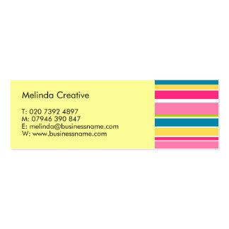 Candy Stripes Mini Business Card