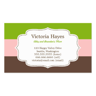 Candy Stripes Mommy Cards