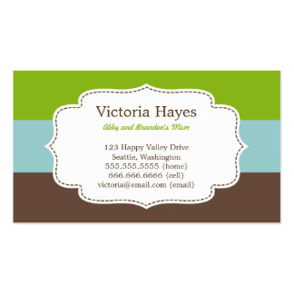 Candy Stripes Mommy Cards Double-Sided Standard Business Cards (Pack Of 100)