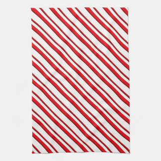 Candy Stripes, Peppermint Red U0026amp; White Kitchen Towel