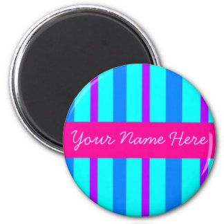 Candy Stripes Personalized Magnet