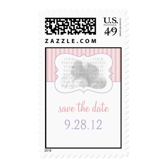 Candy Stripes - Photo Save The Date PP Postage
