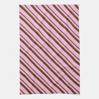 Candy Stripes, pink and chocolate brown Towel
