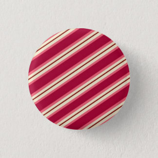 Candy Stripes: Raspberry Pinback Button