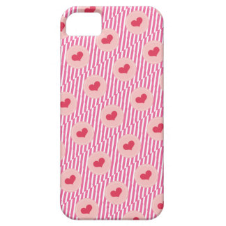 Candy Stripes Red Love Hearts Valentine's Day iPhone 5 Cases