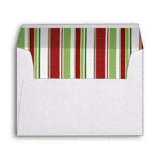 Candy Stripes Xmas or Holiday A-7 envelopes envelope