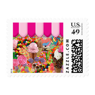 candy Super Sweet Ice Cream Funny Postage