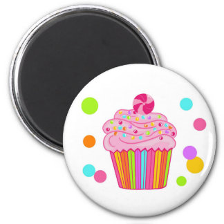 Candy Surprise Cupcake 2 Inch Round Magnet