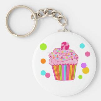 Candy Surprise Cupcake Basic Round Button Keychain