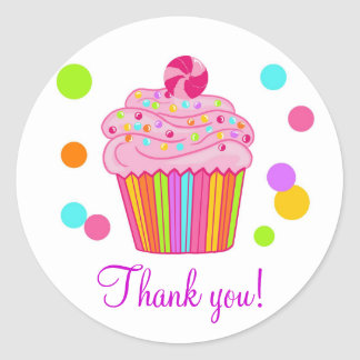 Candy Surprise Cupcake Classic Round Sticker