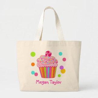 Candy Surprise Cupcake Large Tote Bag