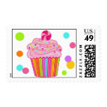 Candy Surprise Cupcake Postage Stamps