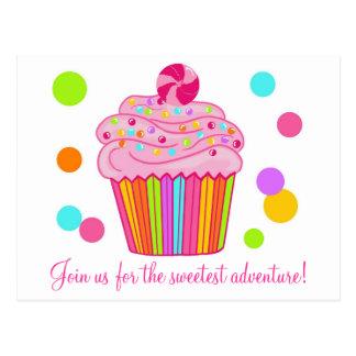 Candy Surprise Cupcake Postcard