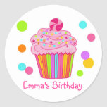 Candy Surprise Cupcake Stickers