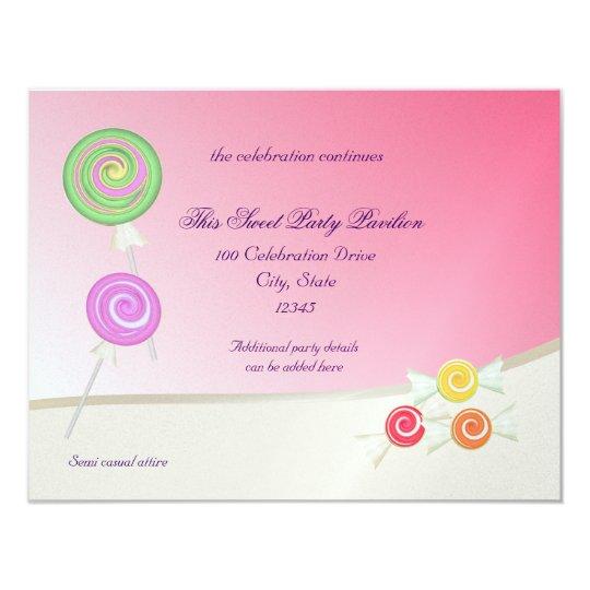 Candy Sweet Bat Mitzvah Card