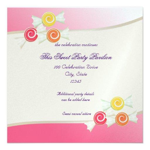 Candy Sweet Bat Mitzvah Custom Invites